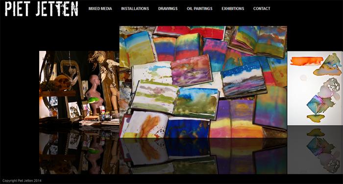 Website Piet Jetten Beeldend Kunstenaar