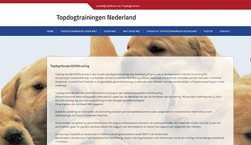 Website Topdogtrainingen
