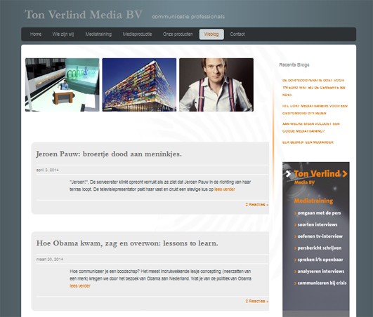 Ton Verlind mediatraining en blog